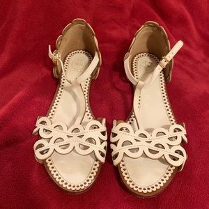Tory Burch Ivory Used Beautiful Sandals 8